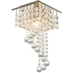 Modern Luxury Lustre Crystal Drops Chandeliers Glass Ball Pendant Light for Bedroom Bathroom Kitchen Lighting