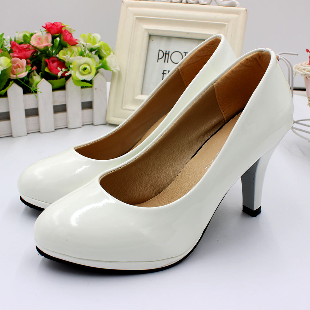 8cm High Heel Height Sexy Women's White Wedding Shoes For Bride Bridesmaid Show Office Everyday Ladies Dress Shoe Wholesale BH5