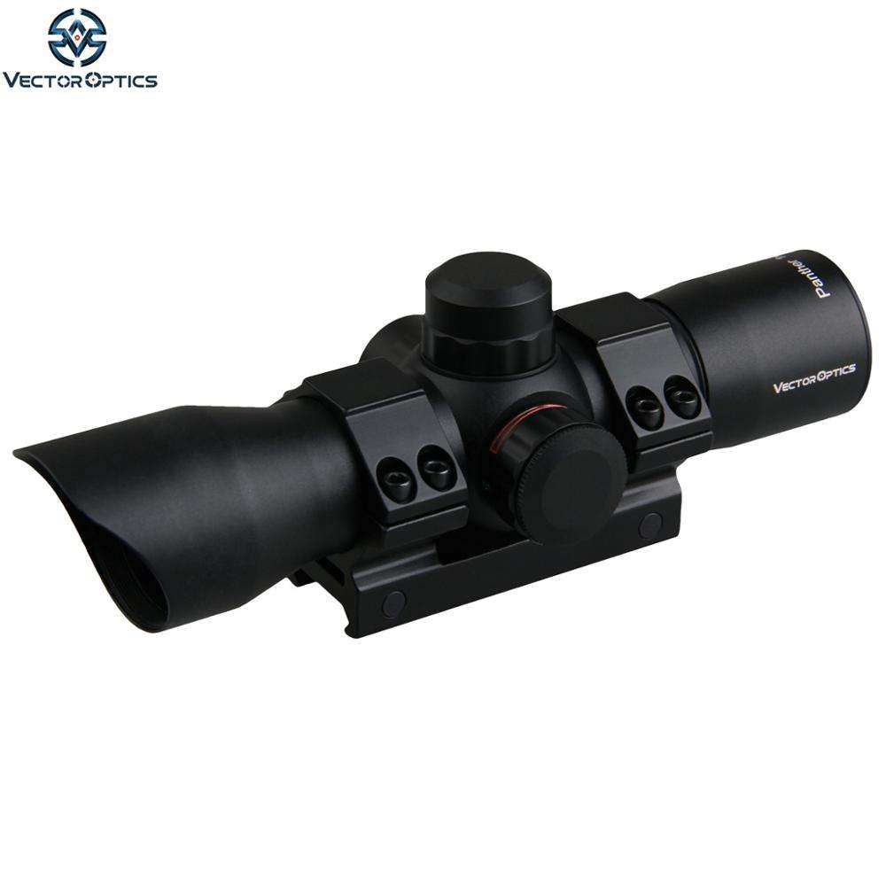 Vector Optics Panther 1x34 Caccia Verde Red Dot Sight Mirino con 20mm Weave Monte Parasole per AR15. 223 5.56 MM M4 M16