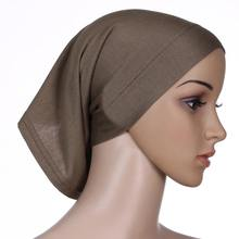 20Colors Under Hijab Tube cool women scarf caps Muslim hat Jersey wholesale