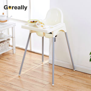 Easy collapsible plastic high baby chair for restaurant feeding