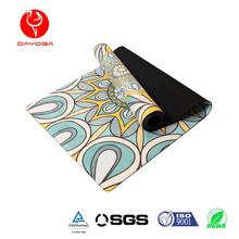 DAYOGA 2017 SGS Approval Eco-Friendly Custom Design Anti-Slip Natural Rubber Suede Yoga Mat