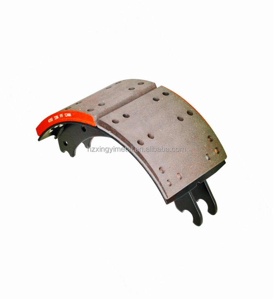 best selling high quality 4707 lined brake shoe with non-asbestos FF lining