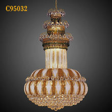 2012 hot selling crystal lighting in royal empire design for hotel decor