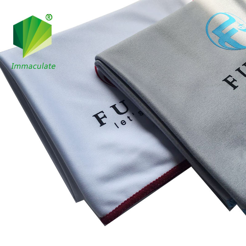 Custom design microfiber wine glass polishing cleaning wiping cloth with high quality