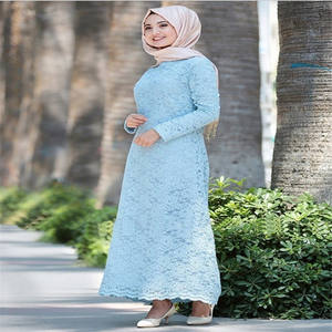 fashion ladies elegant grace Abaya ethnic islamic clothing lace muslim dress