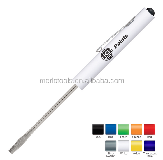 promotional flat pocket screwdriver with clip magnet