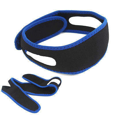 Adjustable Stop Anti-snoring Chin Strap Vents Sleep Aid Device Anti Snoring