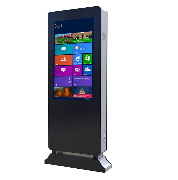 65 inch 3d outdoor movable lcd touchscreen directional digital signage display all in one kiosk
