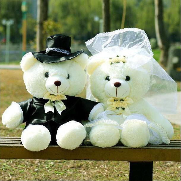 Giocattoli di peluche di uso delle coppie di <span class=keywords><strong>Teddy</strong></span> Bear Wedding