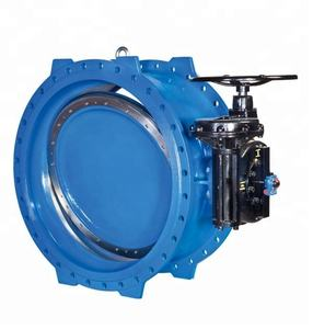 China supplier reliable performance large size pneumatic double flange butterfly valve