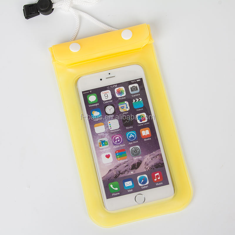 Hot sale cellular accessories swimming floating PVC waterproof phone pouch//