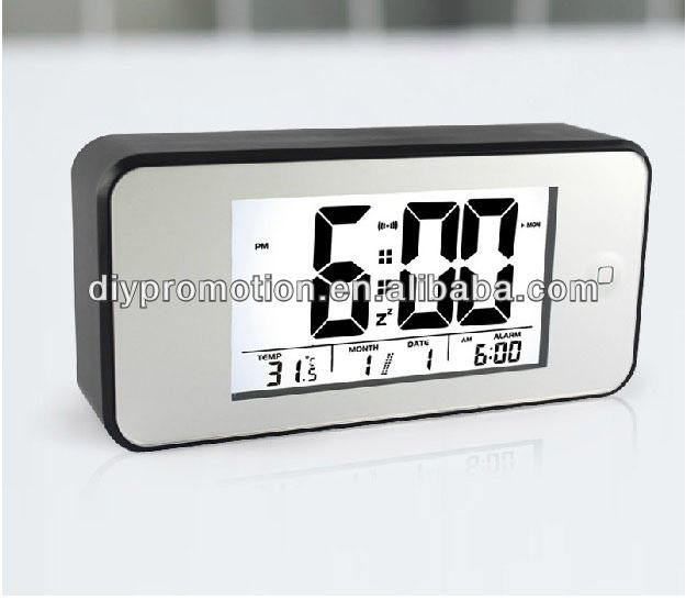 Nuovo design forma iphone Tappeto display led digital desk calendar alarm clock