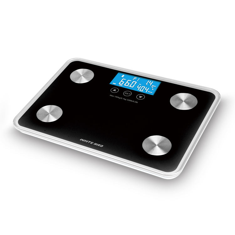 White Bird Zhongshan Electronic 180Kg Body Fat Composition Balance Scale For Family Usage