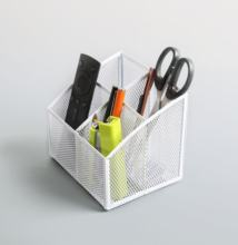 Honor New Arrival 4-Compartment Metal Mesh Desk  Organizer Desktop Office Supplies Stationery