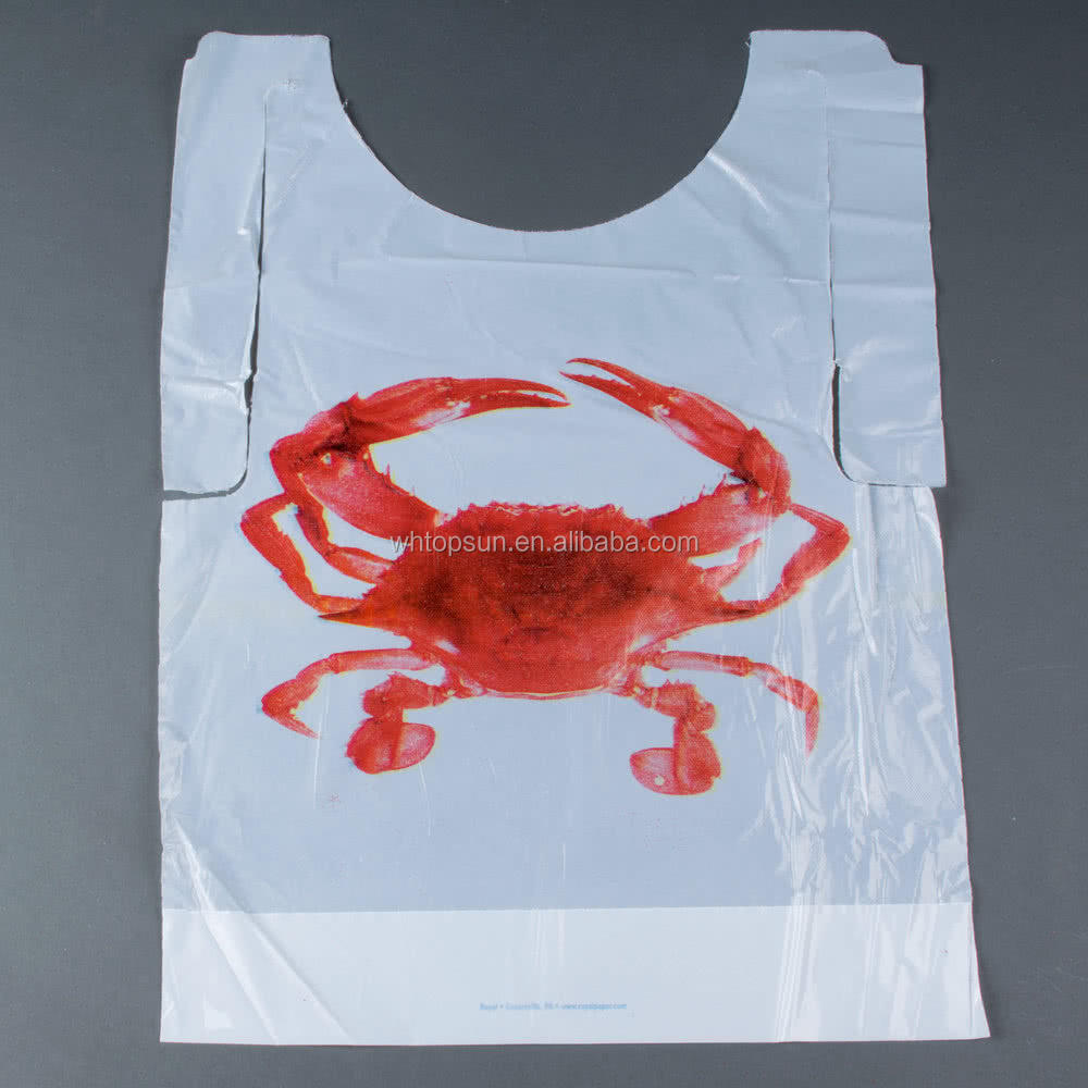 disposable restaurant bib for adult with lobster crab