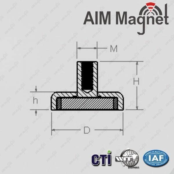 forte 25 mm de diâmetro x 16mm <span class=keywords><strong>altura</strong></span> x m5 linha neodymium magnet pot