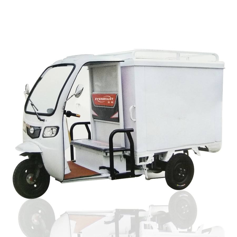 China Cheap Price Closed Food Delivery Tricycle Electric Cargo Tricycle