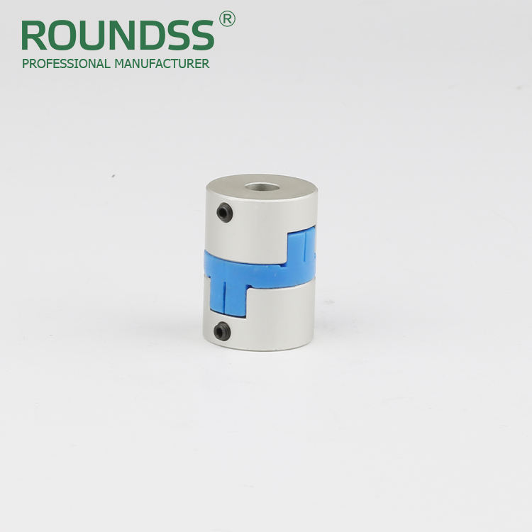 rongde unique high duty design transmit torque rotate cnc stainless steel shaft oldham clamp type flexible coupling