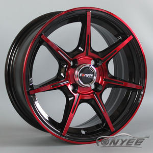 F80A89 1460 35 4X100 73.1 black golden face good quality alloy wheels modified new design models for auto car rims spot stock