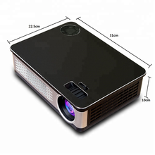 High Brightness Single LCD Display Panel LED Light Source 1080p Full HD Home Theater Video Projector