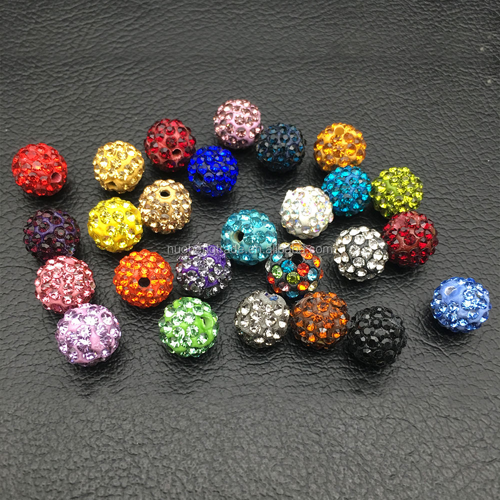 Wholesale 6 Rows Rhinestone Pave crystal disco ball Spacer bead 10MM