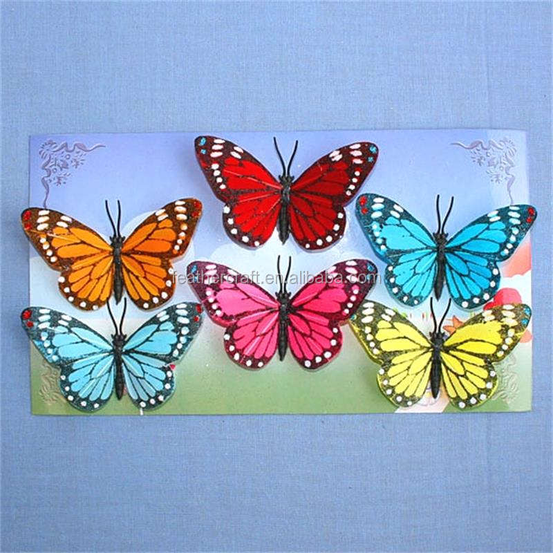 Amazing simulate feather butterfly for wall decoration