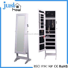 Hot Sale Mirrored Jewelry Armoire Cabinet Standing Mirror