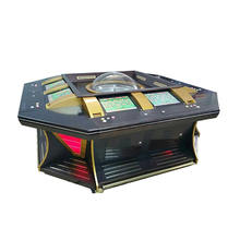 8 Players coin operated betting terminal casino roulette table machine wheel of fortune electronic game machine