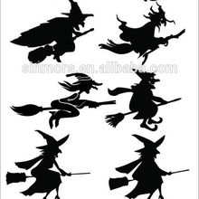 Halloween Temporary Tattoos Witch Ceramic Wall Sticker For Decoration  Popular Design Of Festival Sticker
