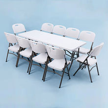 Wholesale New Design Top Quality Foldable Folding Picnic Table Outdoor White  Portable Folding Table
