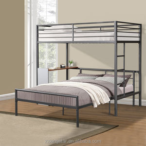 Sale Cheap Used Metal Double Twin Full Bunk Bed with Desk