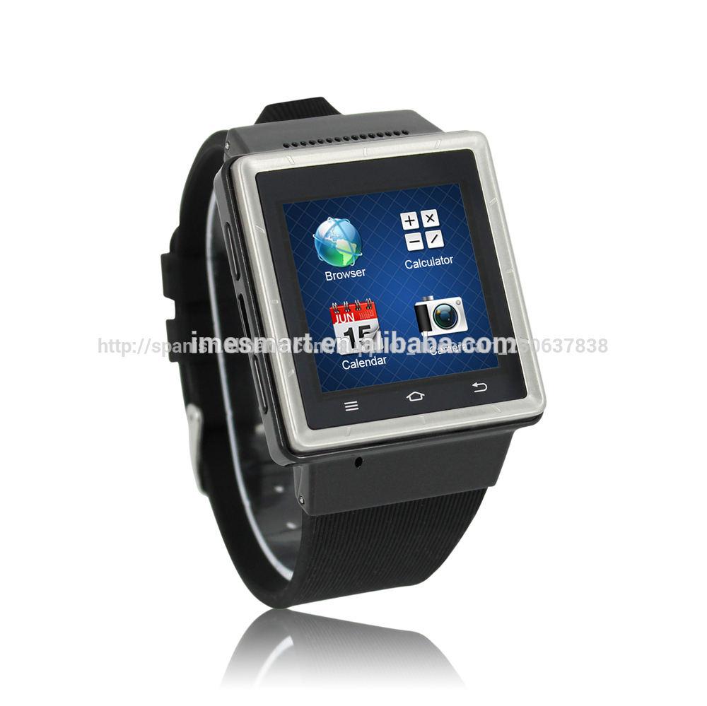 2014 el nuevo 3g wifi de la red de navegación gps bluetooth fm hombres inteligentes con reloj de la cámara