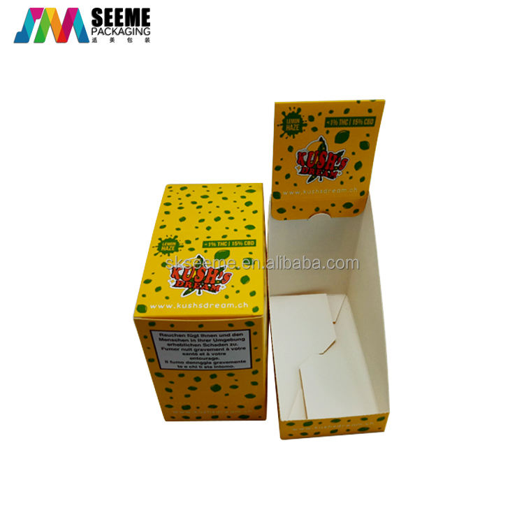 Custom Fancy Cardboard Paper Snacks Collection Counter Display Box For production