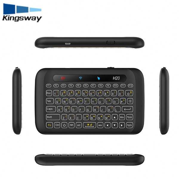 Hot Sale H20 Keyboard 2.4G Wireless Remote Controller Warna Backlit Mini Keyboard H20 Baru Touchpad untuk Android TV