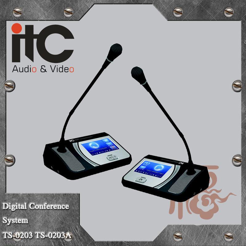 CTI TS-0200 Série Numérique Transmission Technique Filaire Col De Cygne Réunion Microphone