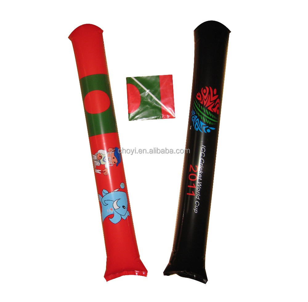 2018 world cup Green PE inflatable noise stick Game cheer props refueling cheering stick