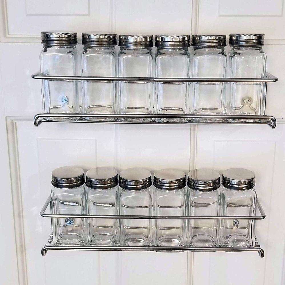 Spice Caddy comdiments Wire Holder Storage in Cupboard, Kitchen or Pantry - Display bottles on shelves, in cabinets