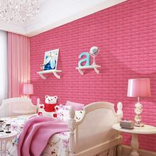 cheap washable foam self adhesive brick  wall paper wallpaper 3d
