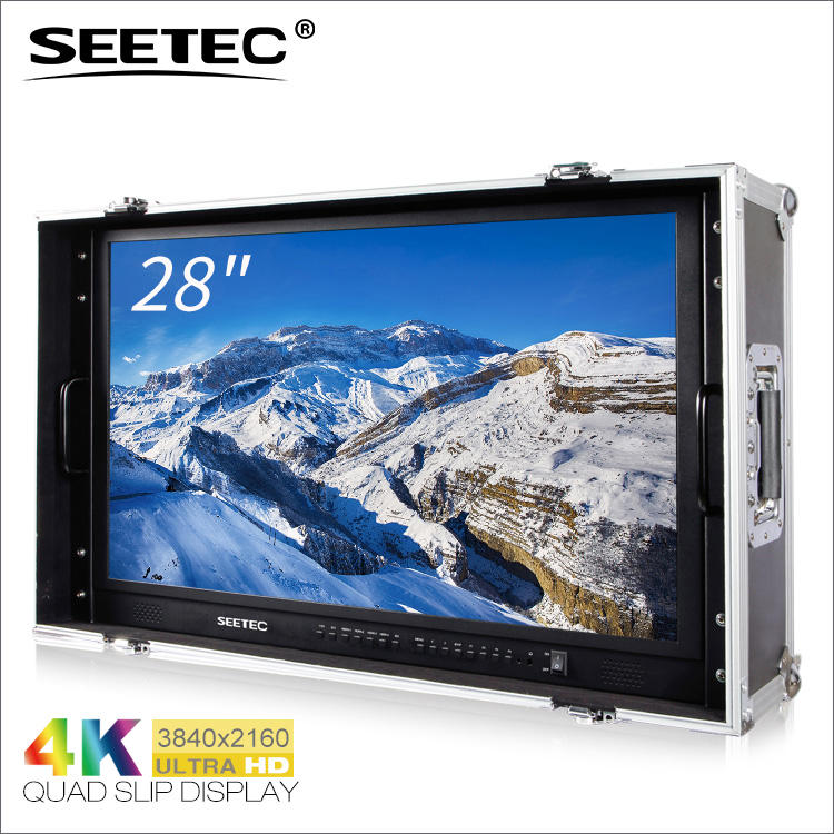 SEETEC 28 pollice carry-on professionale 4 k forma d'onda lcd 28 monitor per cinema hdmi sdi Strumento