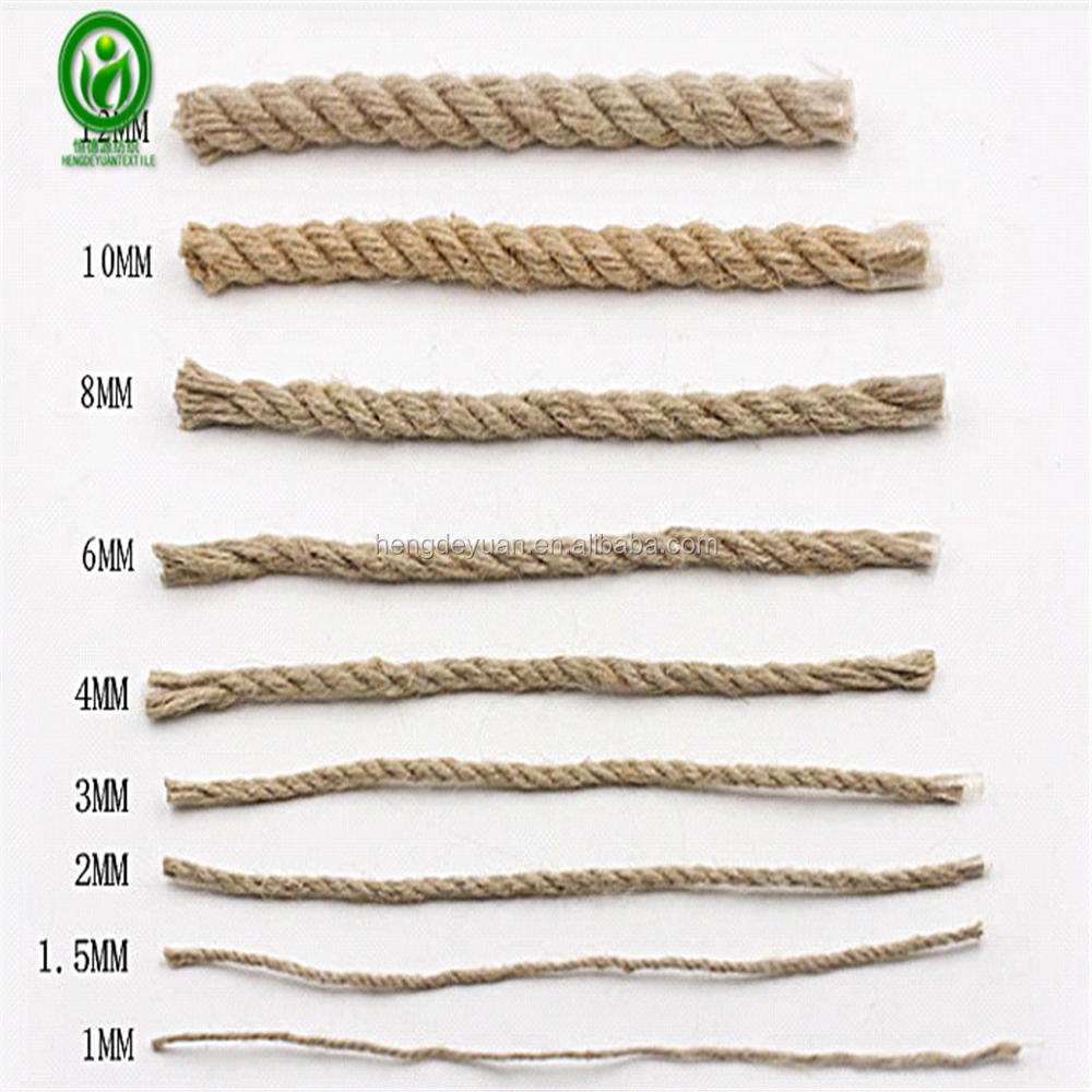 Jute factory multi functions biodegradable natural jute hemp rope