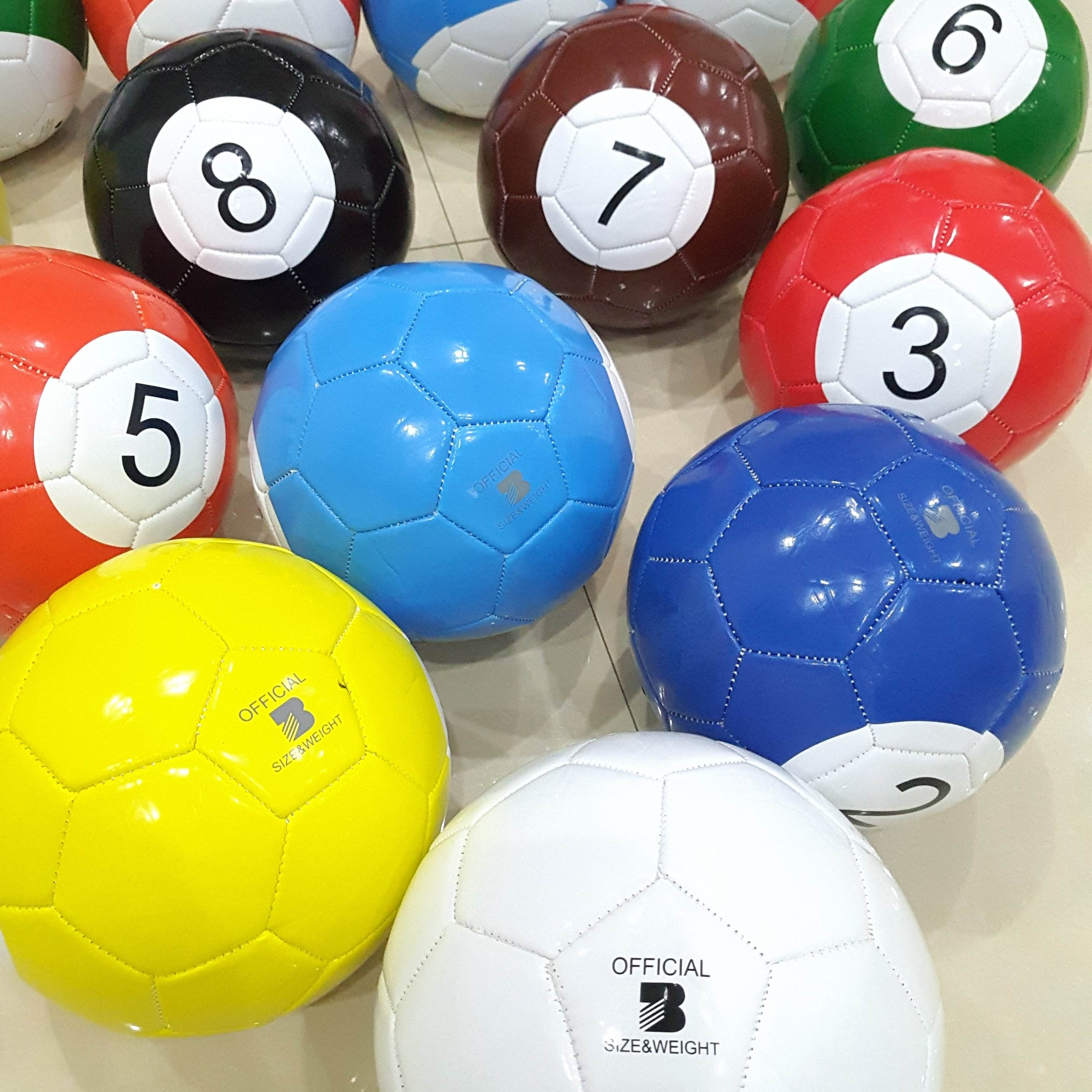 Factory Wholesale Stock 16 pcs/set Size 3 Pool Football Billiard Soccer Inflatable Snook Ball