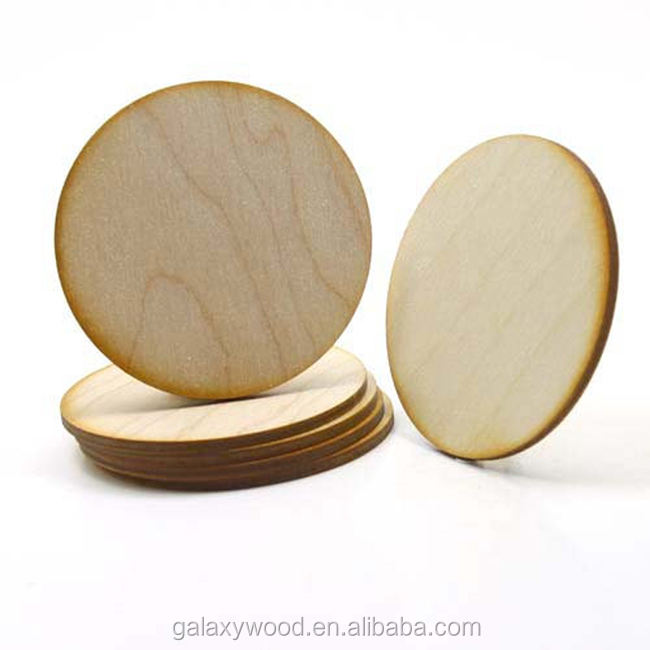 custom size wooden circles laser cut blank wood round pieces for crafts