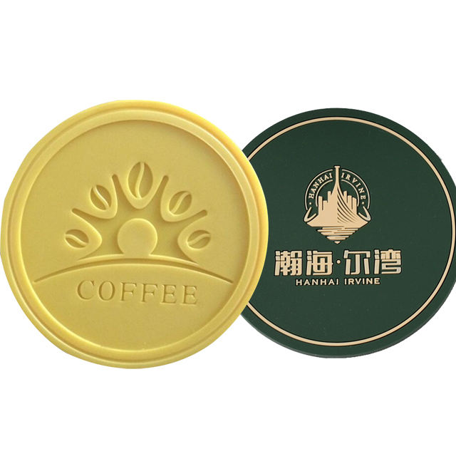 New Design Logo,Customized Silicone Cup Mat,Soft Pvc Rubber Coasters