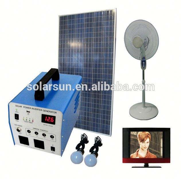 2000Wh Portable Solar Panel Power Generator with LED Home Lighting System USB Port with Cell Phone Chargers Included
