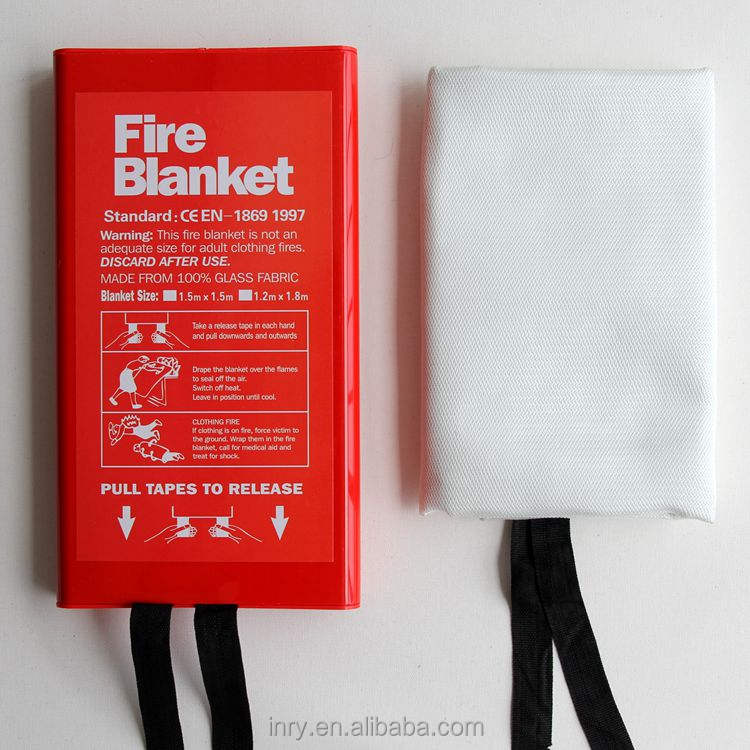 Emergency Fire Blanket Used for Welding Protection and Fire Emergency Survival. 1.5x1.5 Heavy Duty Fiberglass Welding Blanket Fireproofing Blanket