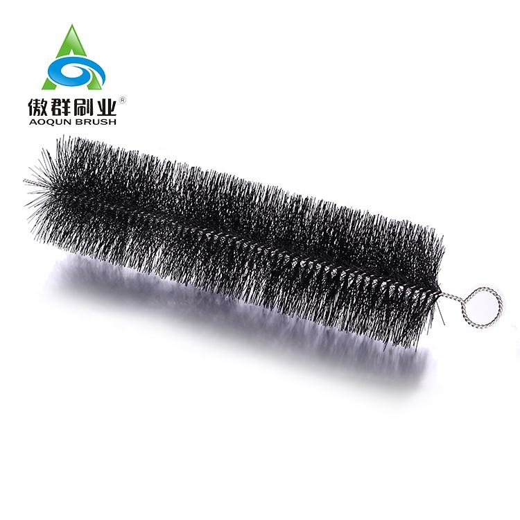 Chimney Pipe Cleaning Brush Durable Flexible Nylon Steel Wire