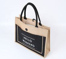 Promotional  jute tote bag with custom logo Wholesale Cheap