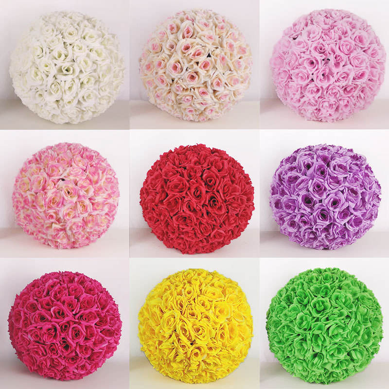 Wholesale real touch artificial flower Silk rose ball for shop decoration