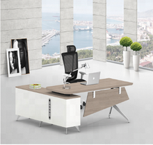 Modern contemporary office furniture executive office desk with shelves